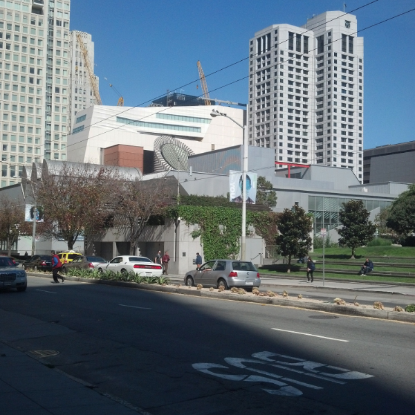 New SFMOMA rising off Mission Street.