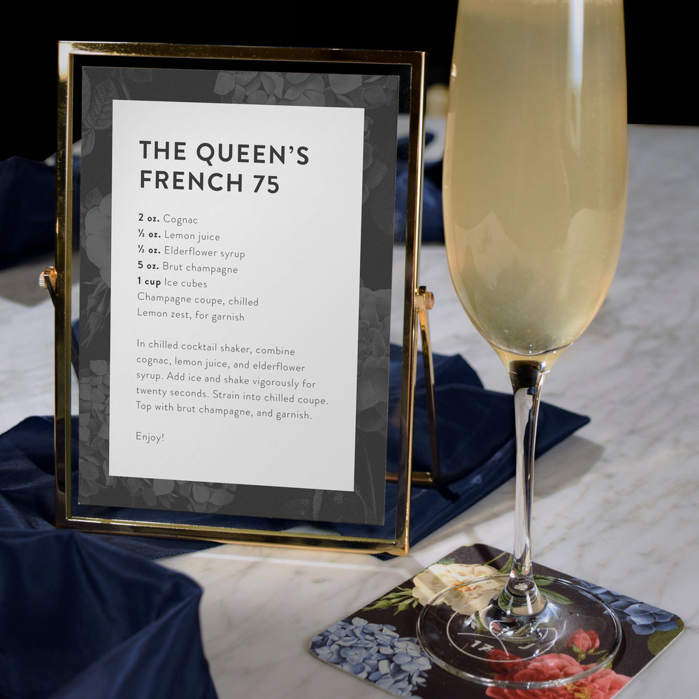 Custom Wedding Collateral (Drink menu) by Maystorm Studio