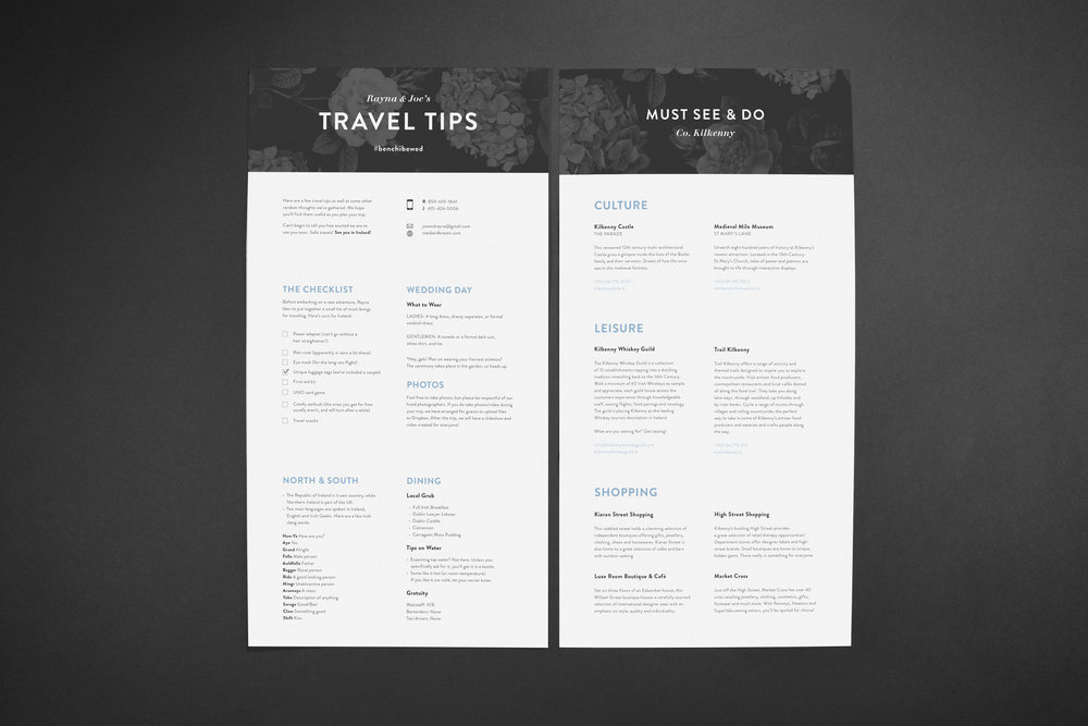 Custom Wedding Suite (Travel tips piece) by Maystorm Studio