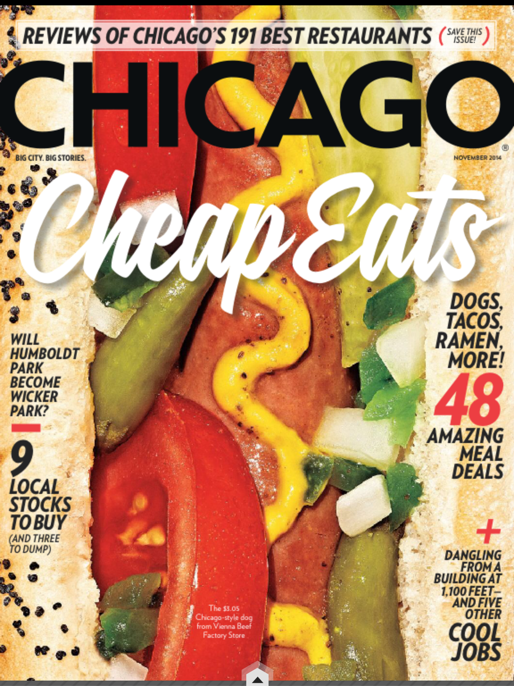 November 2014 Chicago Magazine Cover