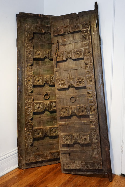 hand carved moroccan door - ID Chicago-Hand Carved Moroccan Doors