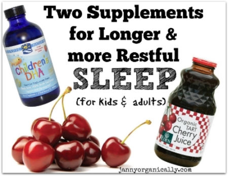 Two Supplements for Longer and more Restful Sleep - janny: organically.