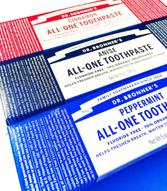 New Product Review: Dr. Bronner's Fluoride-Free Toothpaste - janny: organically. #fluoridefree #drbronners #magicsoap