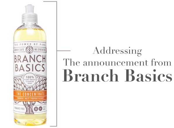 Adressing the Announcement from Branch Basics - janny: organically.
