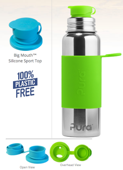The first 100% plastic-free and non-toxic certified sports bottle by Pura Stainless - janny: organically.
