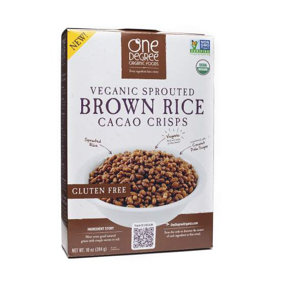 This is my dessert of choice over a bar of chocolate. Organic, gluten-free, sweetened with coconut sugar (only 7g for 2/3 cup). I don't know if I'm ready to admit how many boxes of this we go through a month, er, week. 10 oz box $3.95