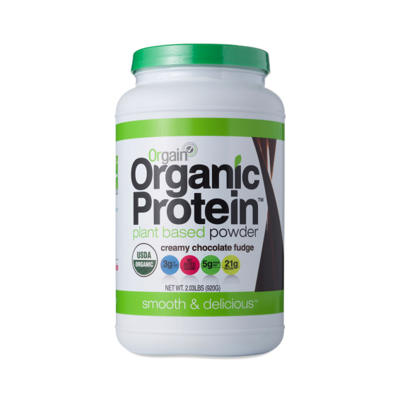 Orgain is another household fave, 21g of organic plant-based protein per 46g (2 scoops). Much sweeter than Nutiva as it's sweetened with stevia and monkfruit. Not as many veggies, but if you don't struggle with your veggie intake, this is a great option! I mix Nutiva and Orgain. 2.03 lb, 20 servings, $31.95