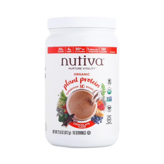 One of my favorite brands, Nutiva, released their Plant Protein Powder a couple of months ago and it's great! Lot's of 20g of clean organic protein per 34g (1 scoop) and tons of vitamins and veggies! Check out the nutrition labels on these! 31.6 oz, 18 servings, $32.95