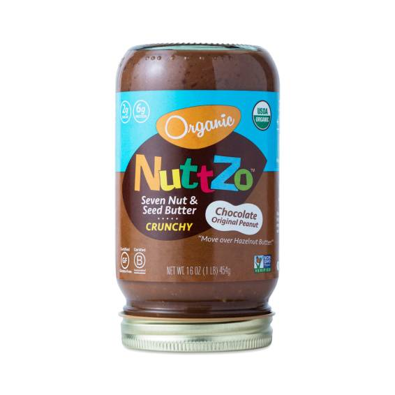 Nuttzo Seven Nut & Seed Butter in any and all flavors, including and especially the dark chocolate. 16 oz $10.95