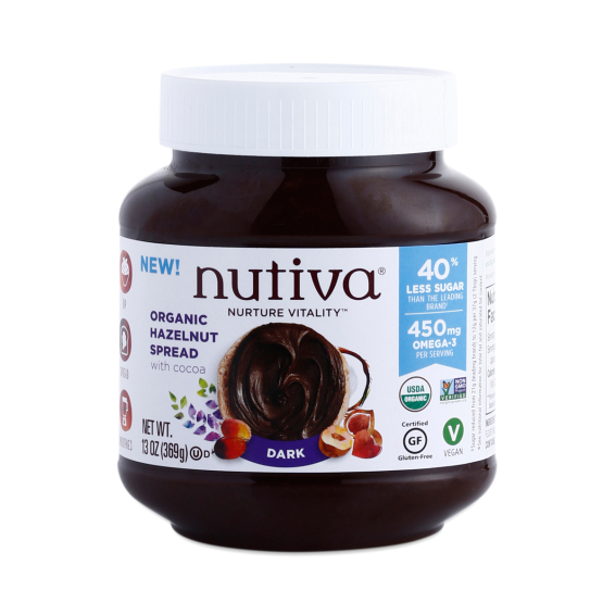 "ORGANIC ""NUTELLA"" (without the junk) Available in Classic or Dark *drool* FINALLY! 13 oz jar $5.75"