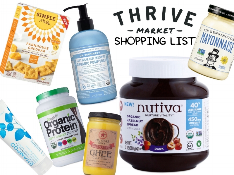 My Thrive Market Shopping List | janny: organically.