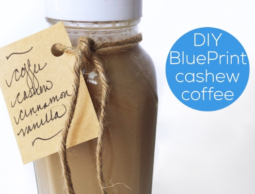Homemade BluePrint Organic Cold Pressed Cashew Coffee #dairyfree #vegan |  jannyorganically.com