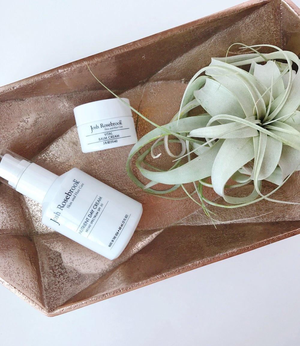 Summertime Musts: Josh Rosebrook Nutrient Day Cream Broad Spectrum SPF 30 & Vital Balm Cream | janny organically.