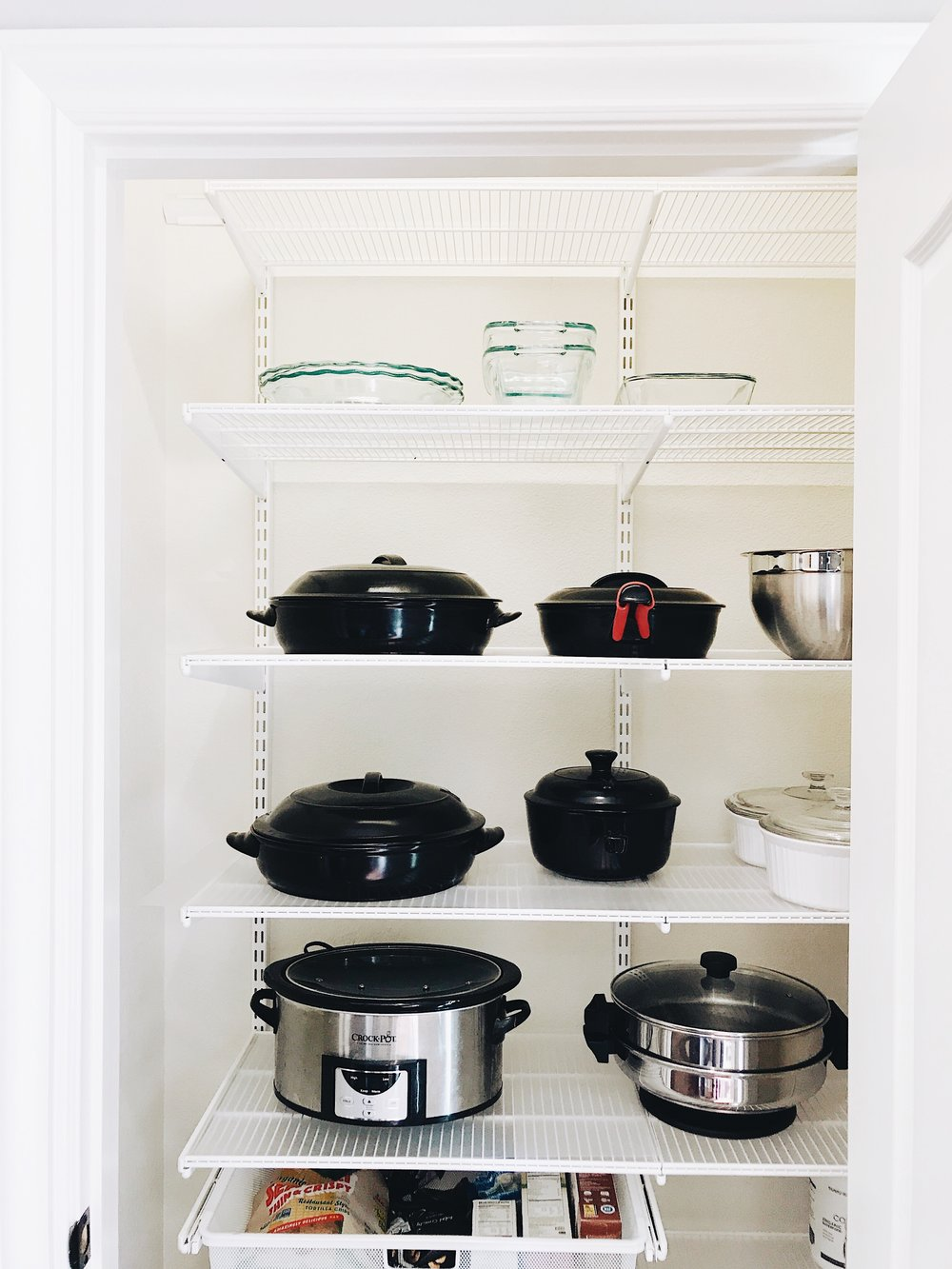 I wouldn't have put the pots and pans in the pantry myself but I'm loving it all!