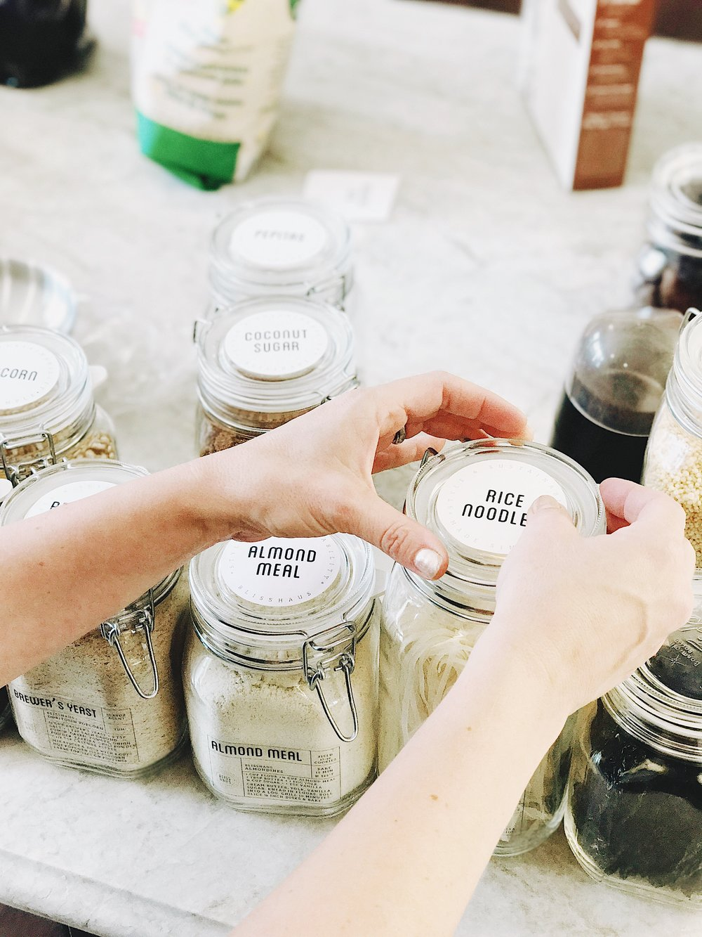 Beautiful labeled jars