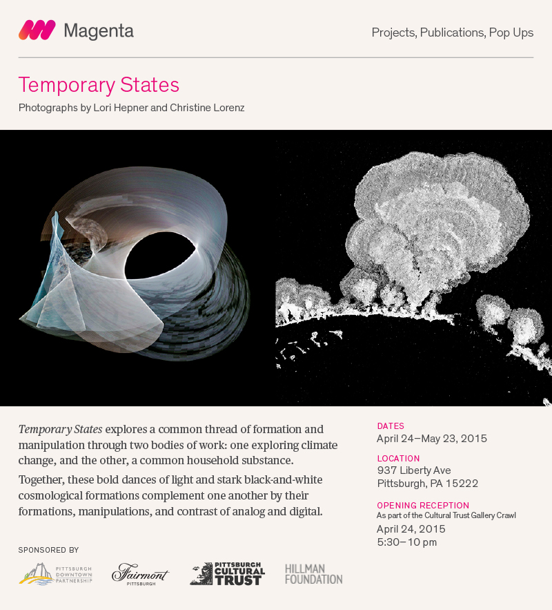 Exhibition Announcement: Temporary States, April 24-May 22 2015