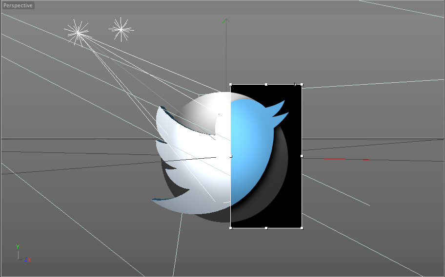 TWITTER BIRD MODEL WITH RENDER PREVIEW.