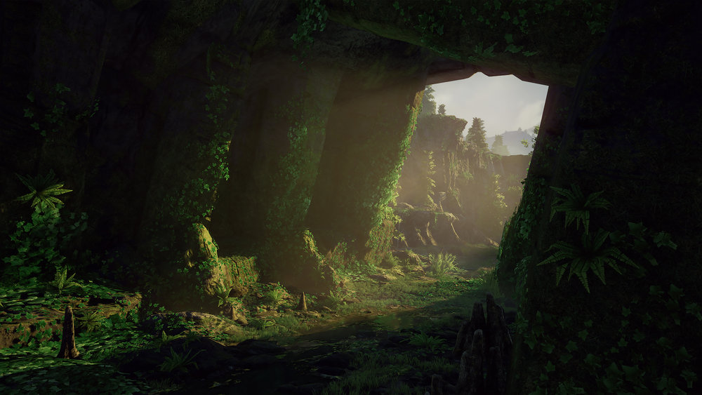 Forest Valley UE4 - Cave Interior