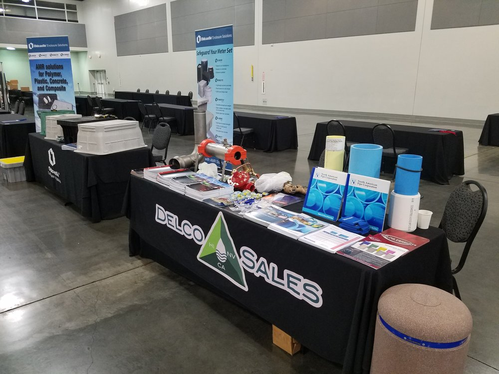 Delco Sales was all set up at the American Water Works Association show.