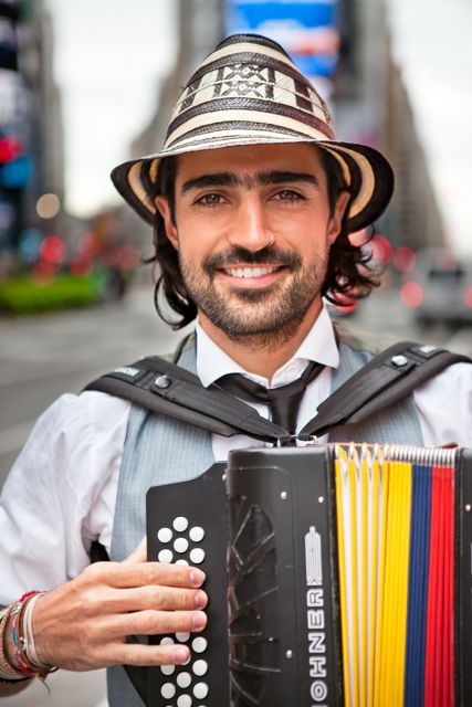 Gregorio Uribe - Band leader/Accordion/Lead Vocals (Bogotá, Colombia)