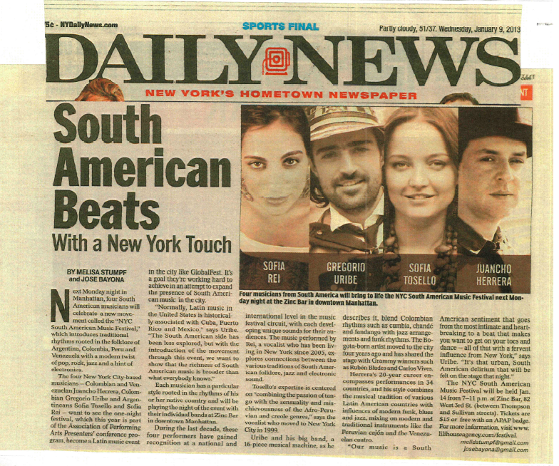 Daily News - South American Music Festival