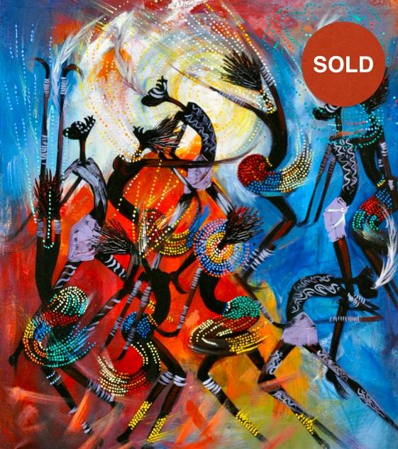 Evangadi by Kidist Brhane;Acrylic on canvas:370 USD