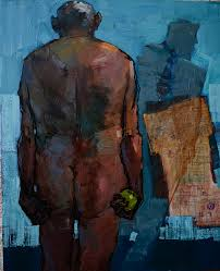 Dawit Abebe, No.2 Background 3, 2014, mixed media painting, 150cm by 130cm