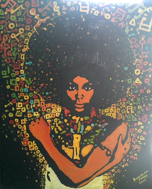 UNTITLED BY ANDUALEM MOGES: $470.00 Please email ushereto check for availability