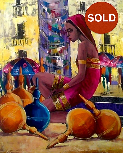 Untitled by Eikreyesu; Acrylic on canvas