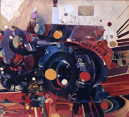 Power, oil collage on hardboard, 81 by 90 cm, 1967