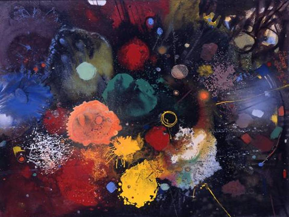 Flowers No. 5, oil on hardboard, 100 by 80 cm, 1975
