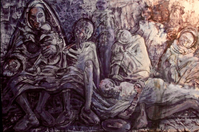 In the Grotto, acrylic on canvas, 100 by 150 cm, 1979