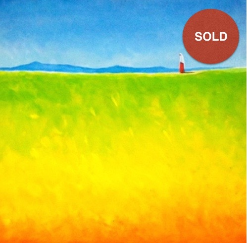 Going Home by Seifu Abebe; Acrylic on canvas; 500 USD