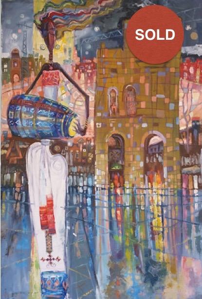 Wudase Amlak by Eyayu Genet; Acrylic on canvas