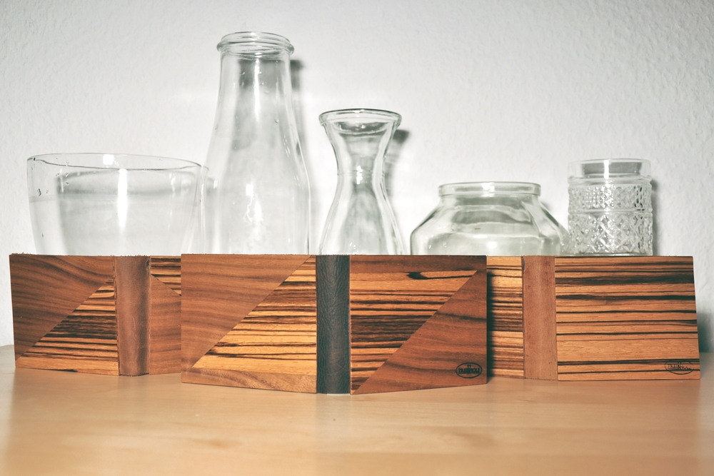 wood with glass