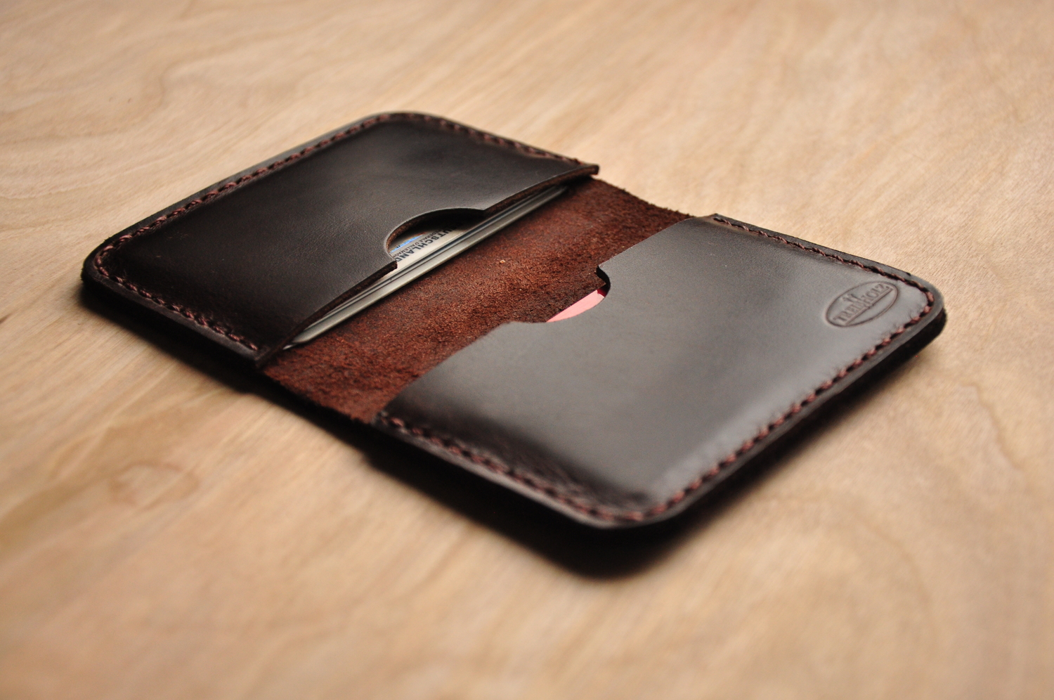 low priced 5a910 32c72 Chocolate Horween Card Holder