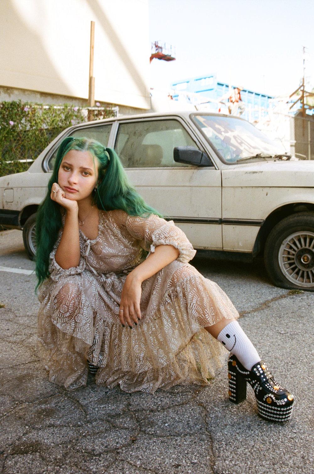 Au/Ra in Wonderland Magazine Winter 18/19 Issue (Print)  Wardrobe: Kendall Finzer  Makeup: Heather Rose Harris
