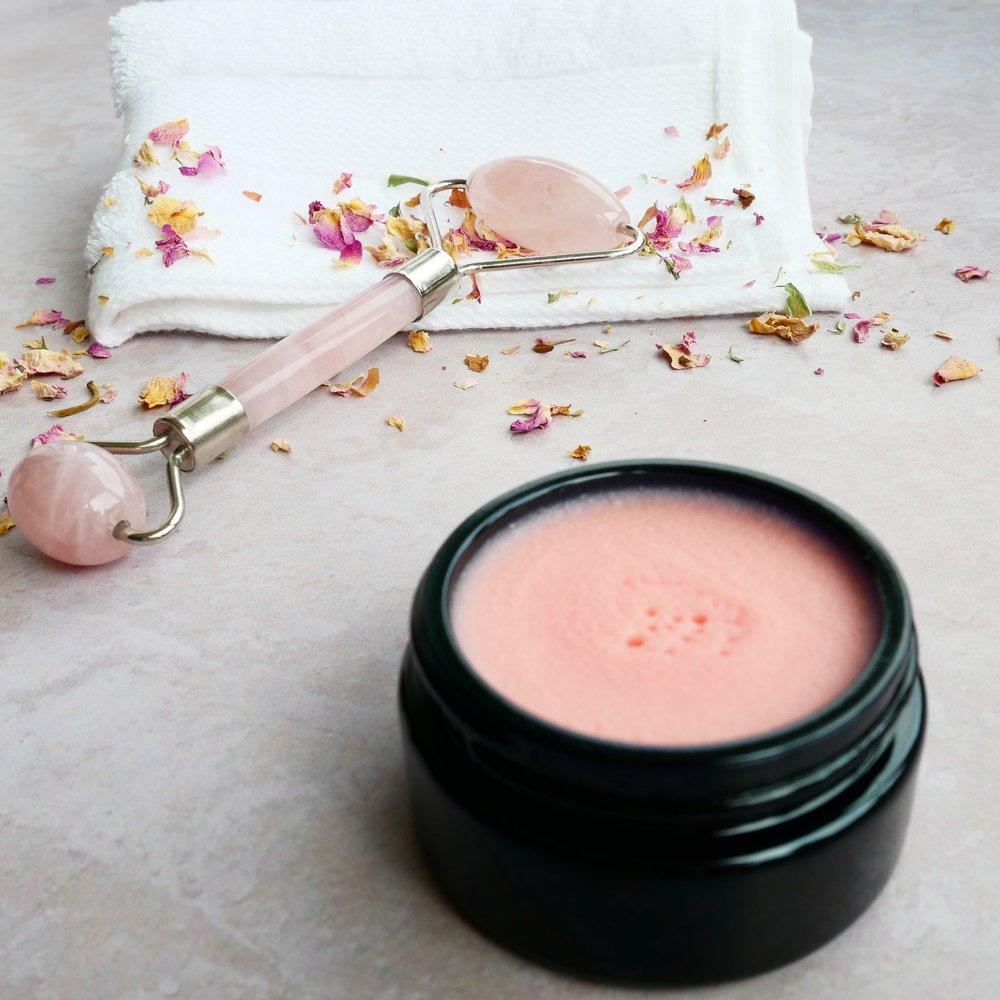 facebalm opskrift rosakvarts jaderulle rose quartz face roller jade roller