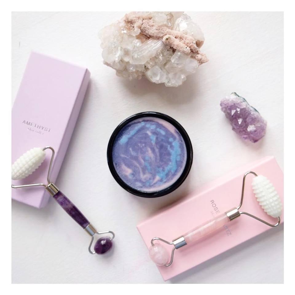 facebalm opskrift rosakvarts skin roller face roller ansigtsrulle ametyst jaderulle krystal