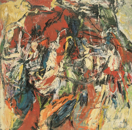 Untitled, 1961 Oil on baking paper on canvas 100 x 100 cm