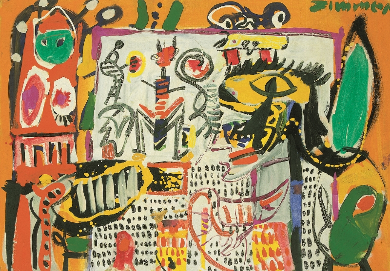 Indonesisch , 1963 Mixed media on canvas 79 x 100 cm
