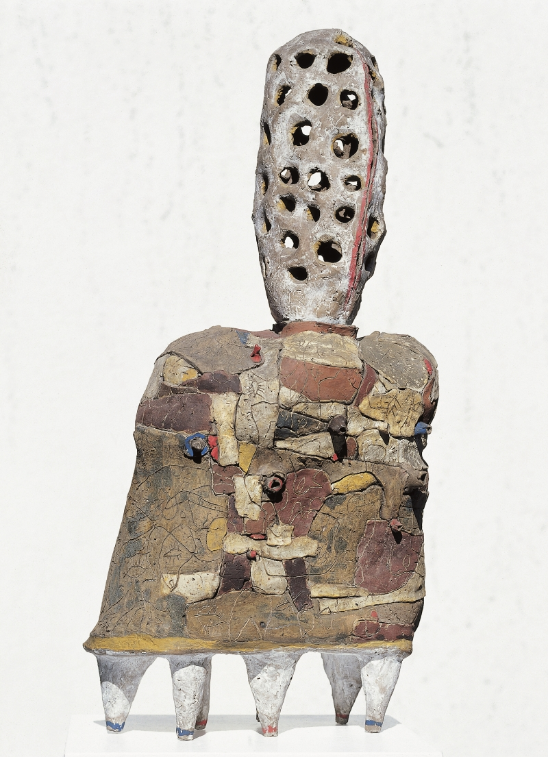 Orpheus, 1963 Burned clay, painted 84 x 39 x 20 cm