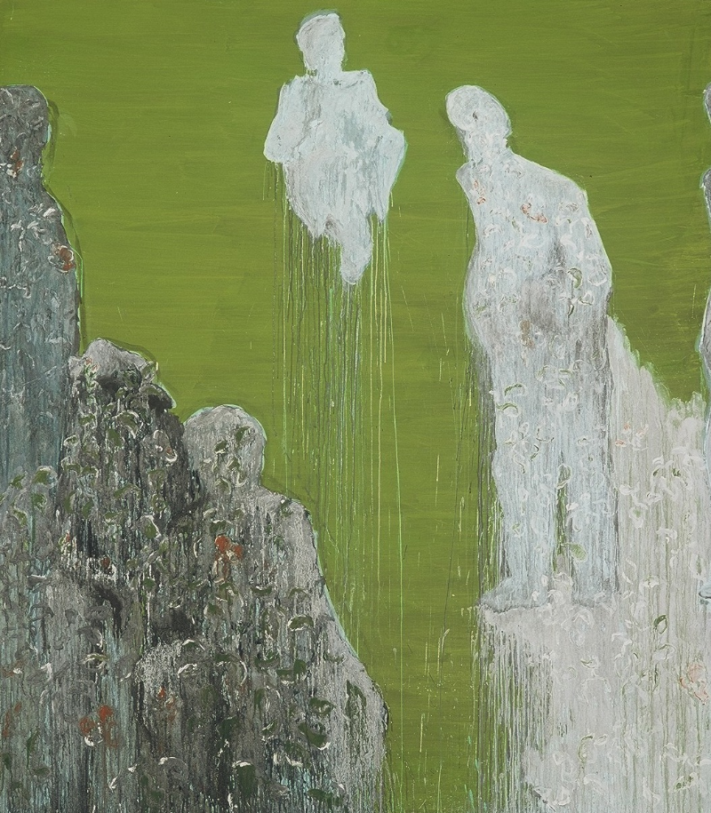 Untitled, 2005 Egg tempera on canvas 280 x 190 cm