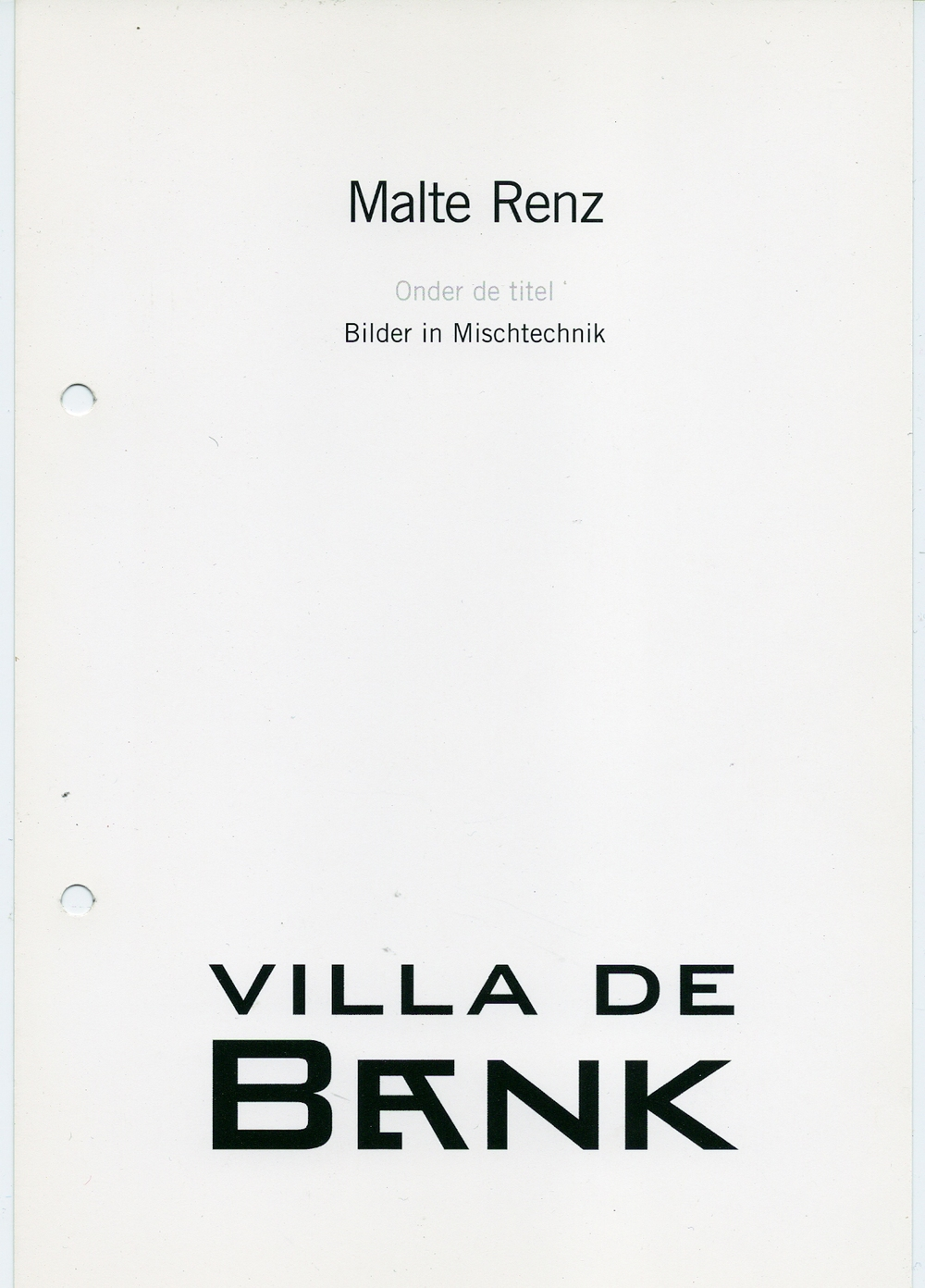 Malte Renz, Bilder in Mischtechnik , 2004