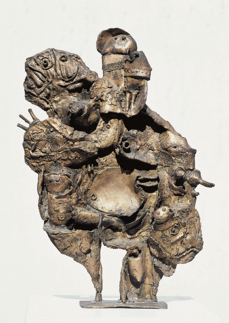 Lothar Fischer  Flucht aus dem Morgenland , 1959 Bronze Unikat 50 x 33 x 8 cm