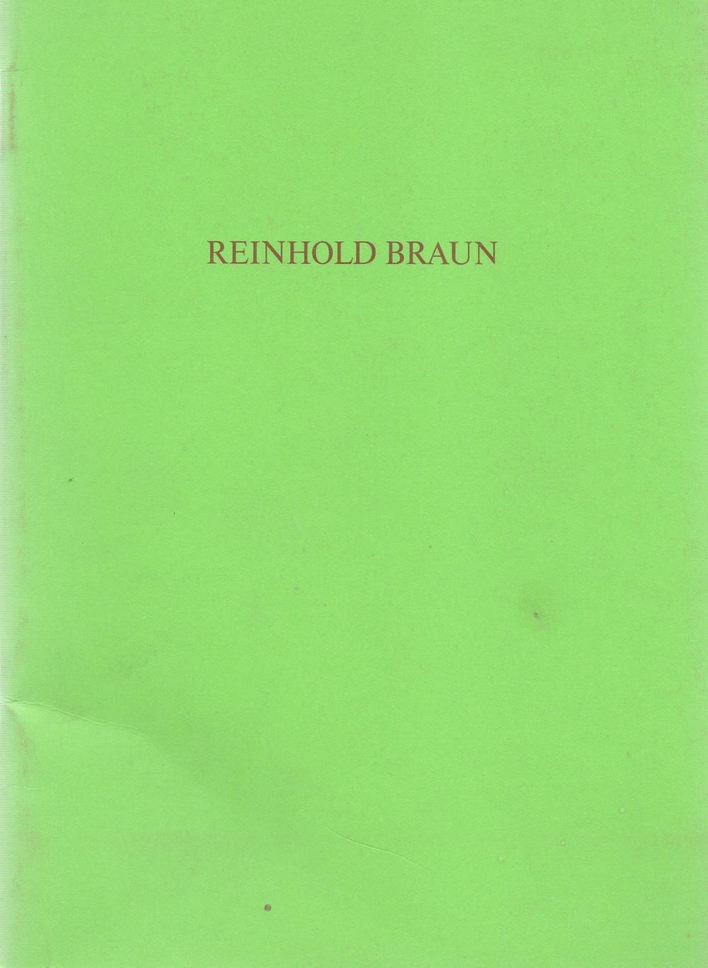 Reinhold Braun  Bilder , 1989