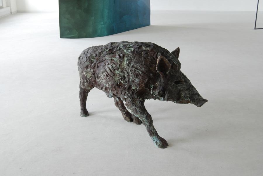 Wildschwein , 2008 Bronze 130 x 50 x 35 cm Photo: M. Vincenz