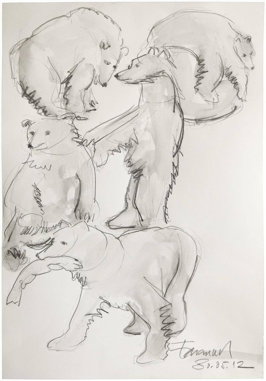 Bären, 2012 Pencil on paper 40 x 30 cm
