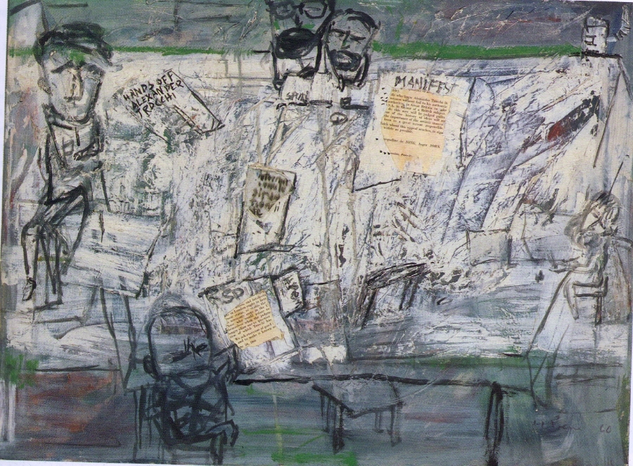 Heimrad Prem  Manifest , 1960 Oil on canvas 60 x 80 cm Private Collection