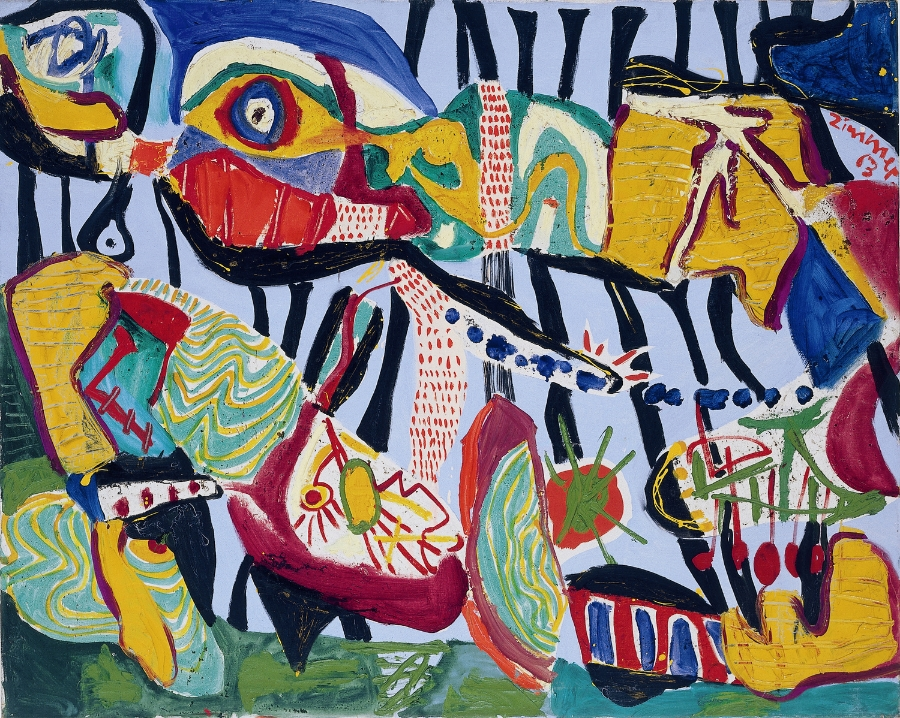 Heimatland , 1963 Oil on canvas 100 x 124,5 cm